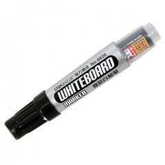 得力(deli)黑色换芯白板笔 可擦易擦 10支/盒6820